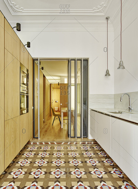 Interior view, apartment, Barcelona, Spain