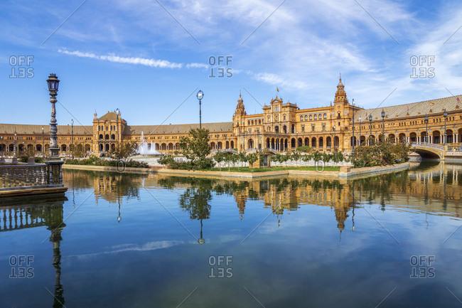Spain- Andalusia- Sevilla- Plaza de Espana