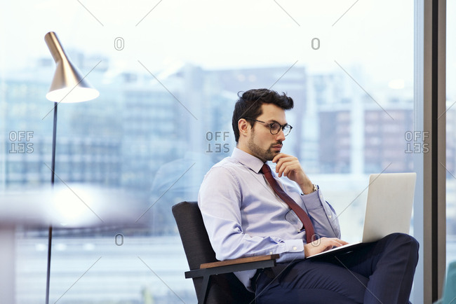 A man at work using computer