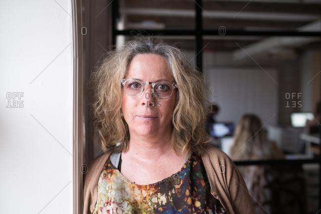 Portrait of a businesswoman wearing glasses