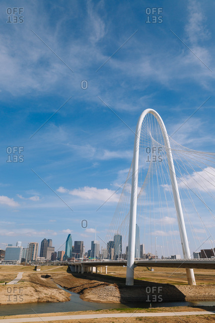 Dallas, Texas - February 10, 2017: Margaret Hunt Hill Bridge