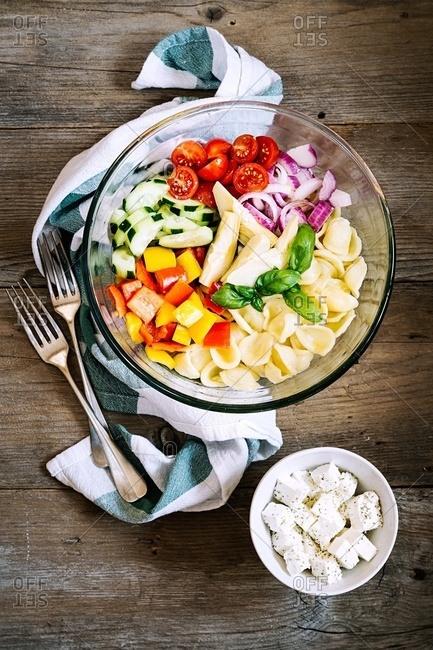 Italian cold pasta salad