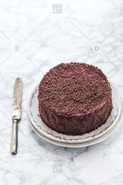 Layer chocolate cake with chocolate filling