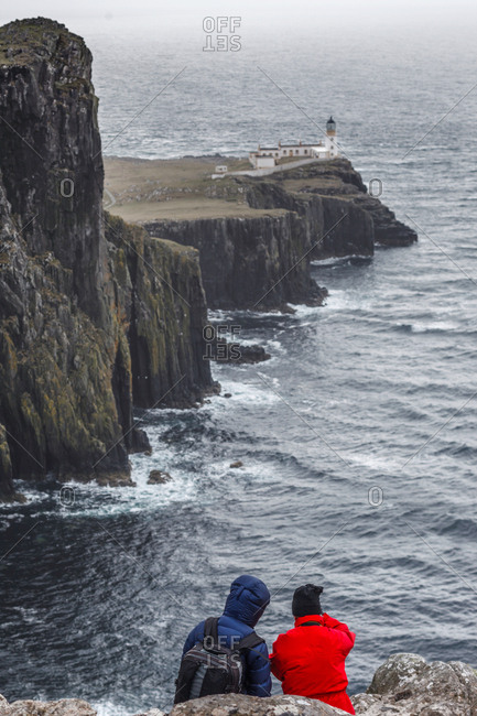 Two hikers at Neist Point