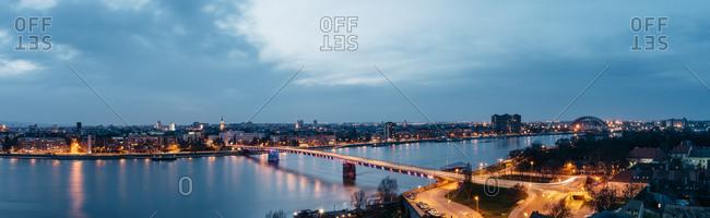City panorama from Novi Sad, Serbia, Europe