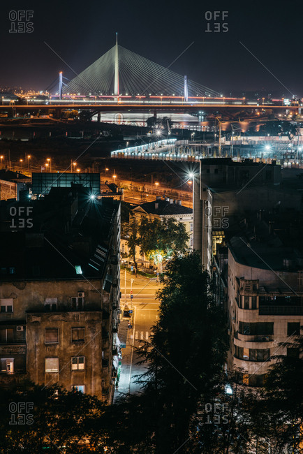 Belgrade, Serbia - City view at night
