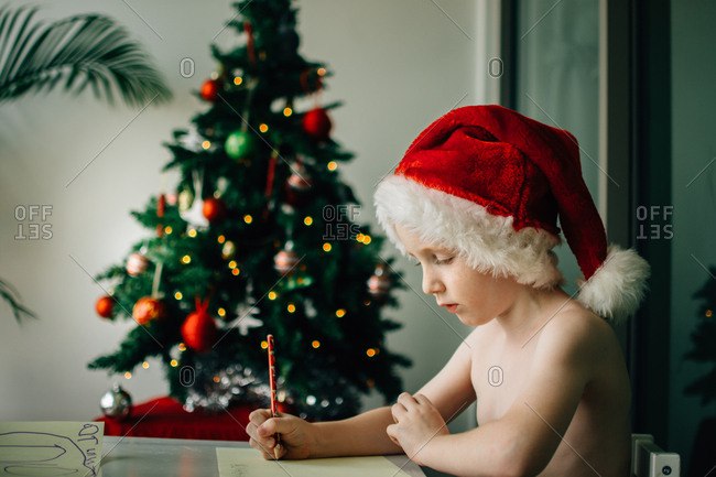 Boy writes letter to Santa