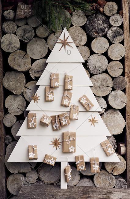 Advent Calendar Self Made : Christmas stock photos offset