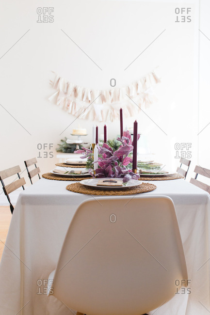 A festive table setting