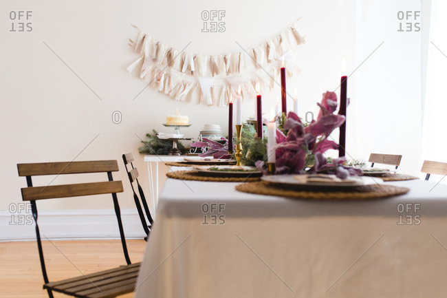 A festive table for holidays