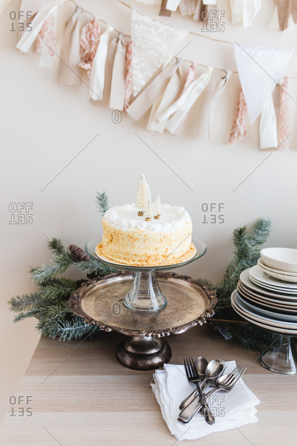 Cake on a holiday table