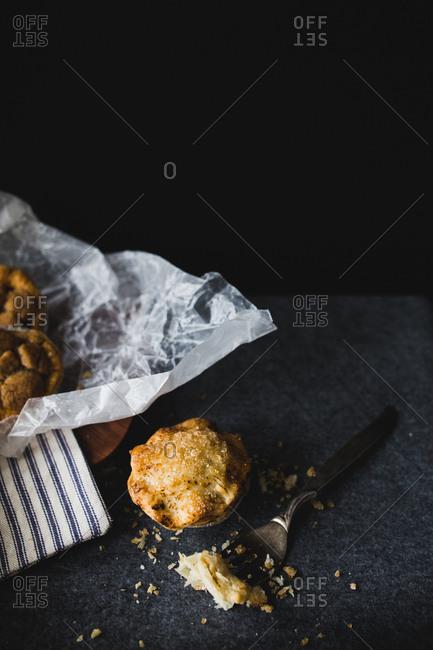 A small pie in studio shot