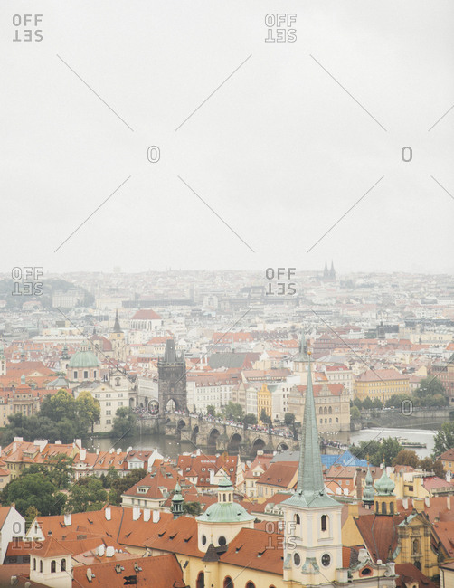View of Prague from the Royal Palace, Prague, Czech Republic