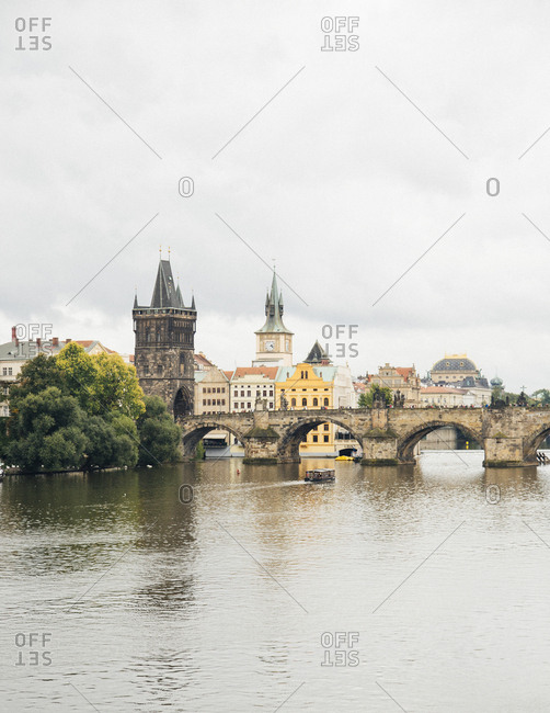 Prague, Czech Republic - August 31, 2014: The Charles Bridge, Prague, Czech Republic