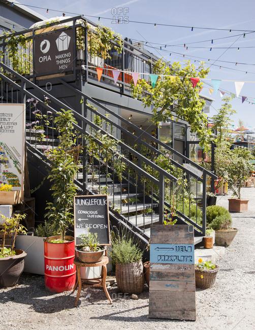 Zurich West, Switzerland - June 7, 2014: Frau Gerolds Garten in Zurich-West, Switzerland