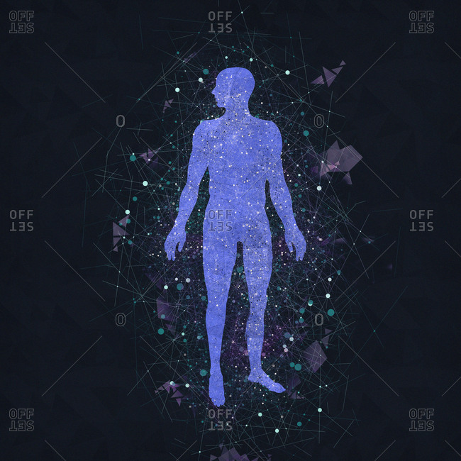 Atomic structure of the body, illustration