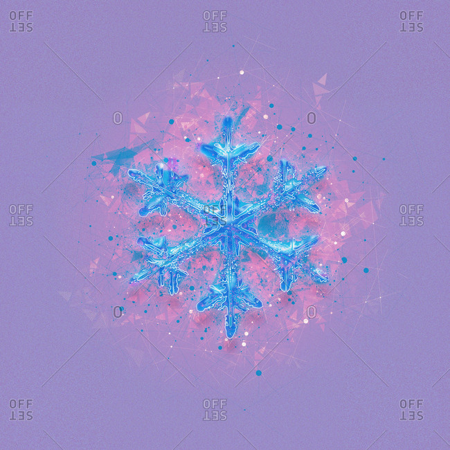 Snowflake, illustration from the Offset Collection