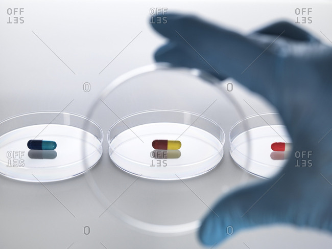 Pharmaceutical research, conceptual image - Offset