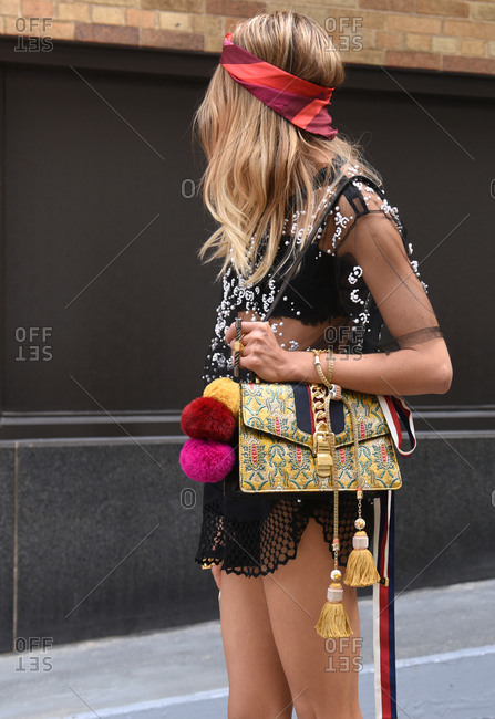 New York, NY - September 14, 2017: Fashionable woman on the streets