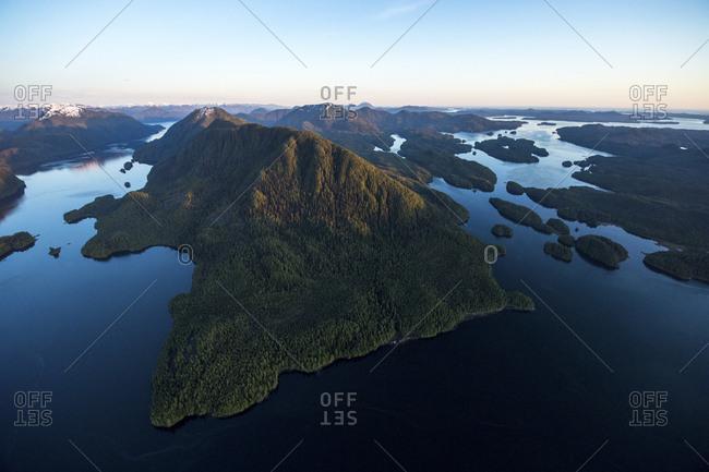 An aerial vista of Cunningham Island.