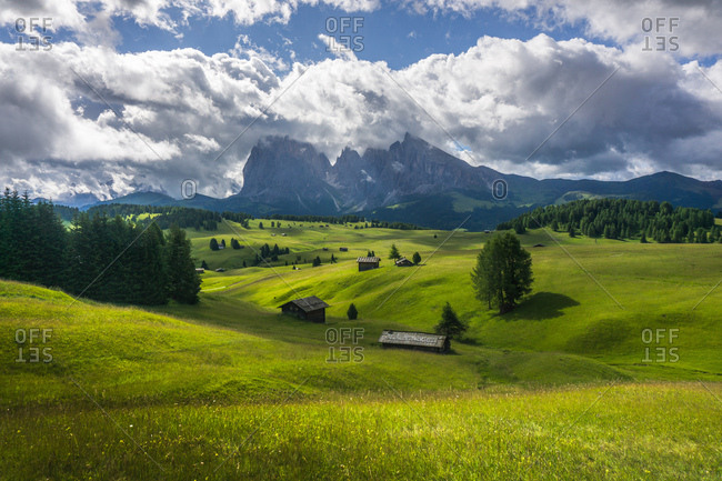 Cloudy sky above the Dolomites in South Tryol, Italy