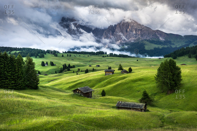 Clouds surrounding Dolomites in South Tryol, Italy