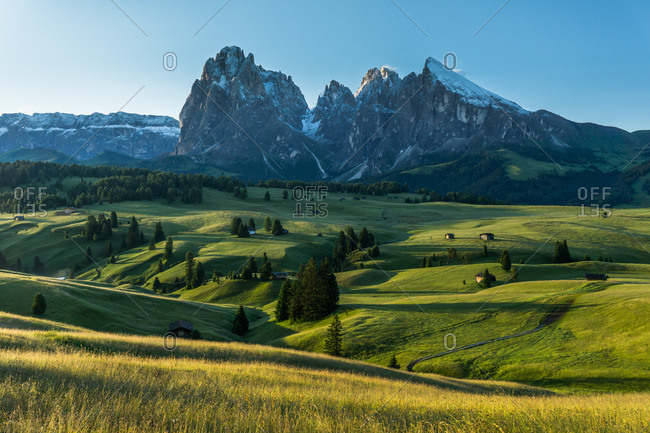Sunrise over the Dolomites in South Tryol, Italy