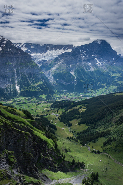 View of the Swiss Alps in Grindelwald, Switzerland