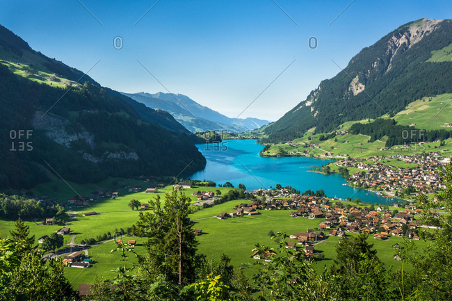 Lake Lungern in Lungern, Switzerland