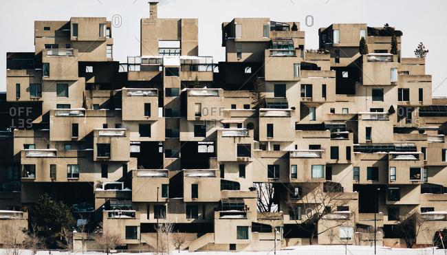 Modern housing block in Montreal, Quebec