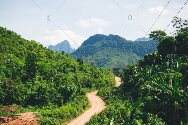 Trail through jungle in mountains