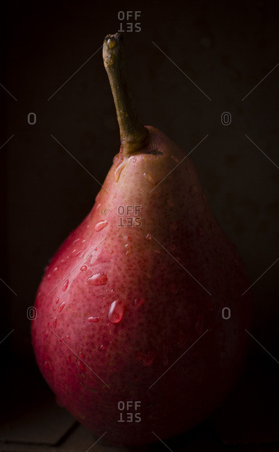 Red Pears dark and moody