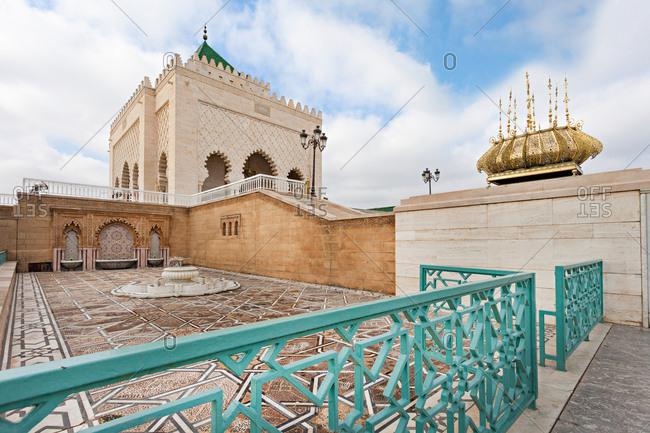 Rabat, Morocco - July 19, 2013: Mausoleum of Mohammed V in Rabat, Al-Magreb