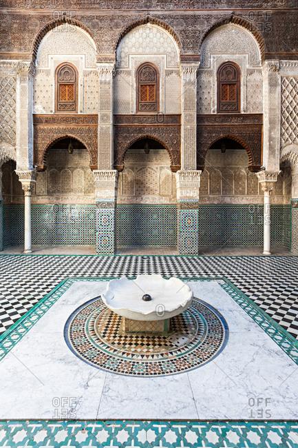 Madrasa in Fez, Morocco, Al-Magreb