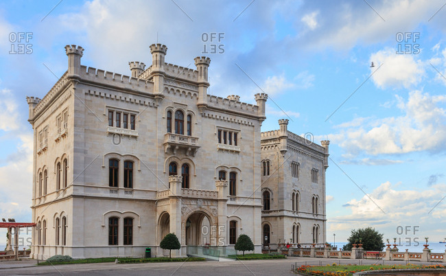 Trieste, Italy - October 13, 2013: Miramare Castle, Friuli Venezia Giulia