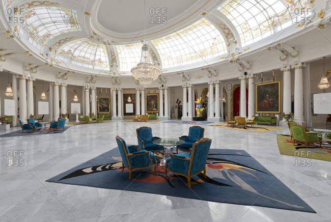 Nice, France - July 19, 2012: Grand salon of the Negresco Palace on the Promenade des Anglais