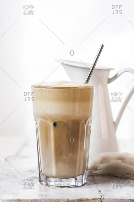 Glass of Cafe Frappe