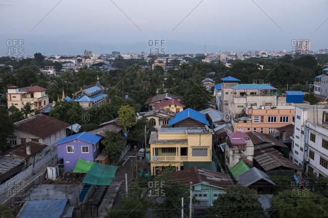 Mandalay, Myanmar - 23 September 2016: Mandalay cityscape