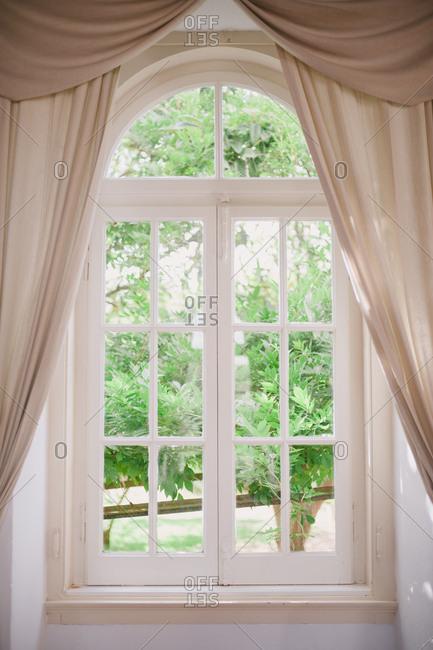 Window at wine estate