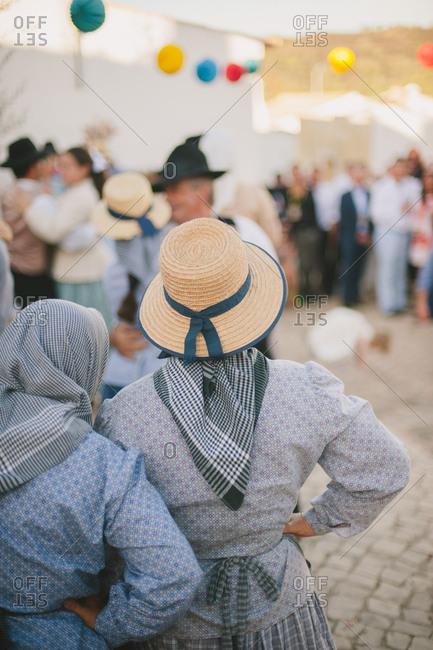 Villagers attend a wedding