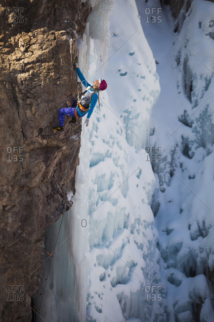 January 16, 2016: Emily Harrington competes in the 2016 Ouray Ice Festival Elite Mixed Climbing Competition at the Ice Park in Ouray, Colorado. Harrington placed fourth in the women's division.