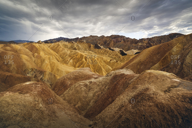 Barren landscape of Death Valley, Zabriskie Point, California, USA