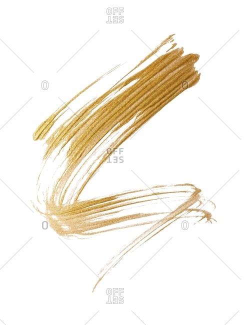 Gold mascara smear
