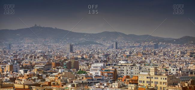 July 11, 2017: Cityscape of Barcelona, Catalonia, Spain, Europe