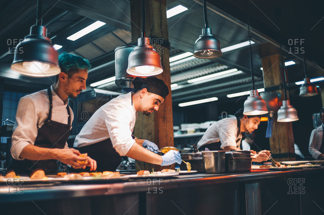 Several cooks working