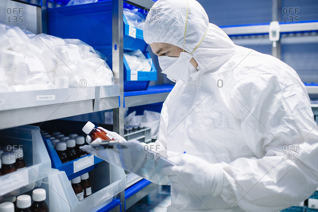Scientist working in lab