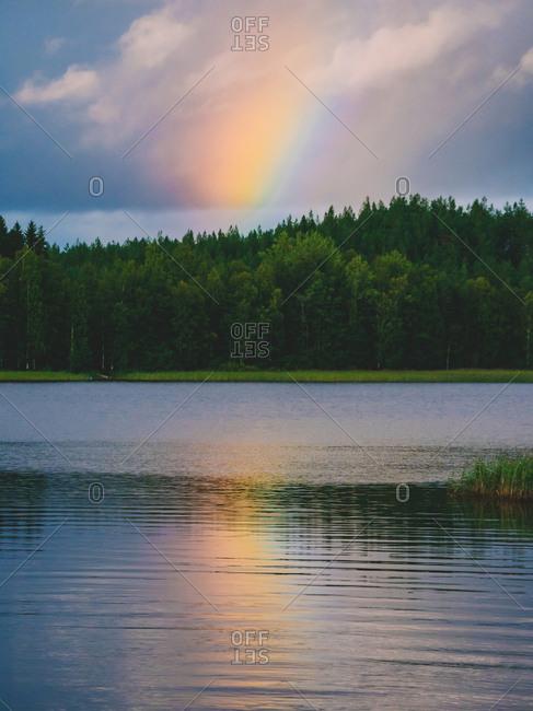 Calm water of lake