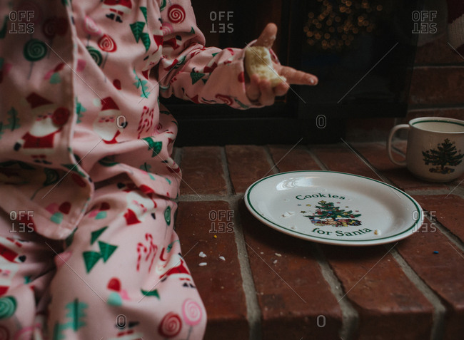 Toddler eats cookie left for Santa Claus
