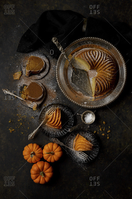 Slices of Pumpkin Bundt Cake
