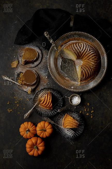 Slices of Pumpkin Bundt Cake